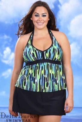 26188fb244d delta burke swimwear · Delta Burke Sunstroke. Plus Size Skirtini